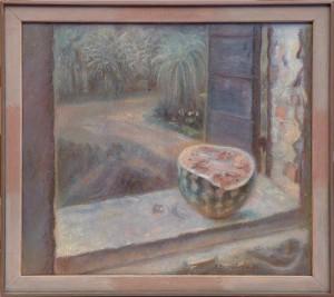 Eugenio Tomiolo, Natura morta - Anguria sul davanzale, 1976